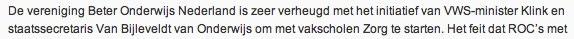 BON blij met zorgvakscholen   Beter Onderwijs Nederland