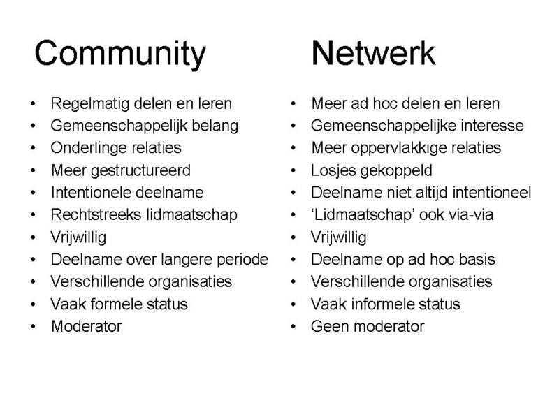 Communitynetwerk